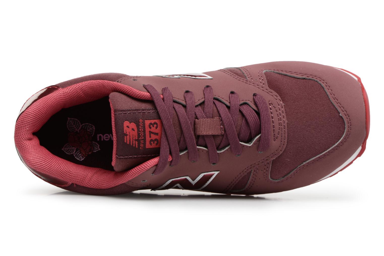 Sneaker New Balance KJ373 J weinrot ansicht von links