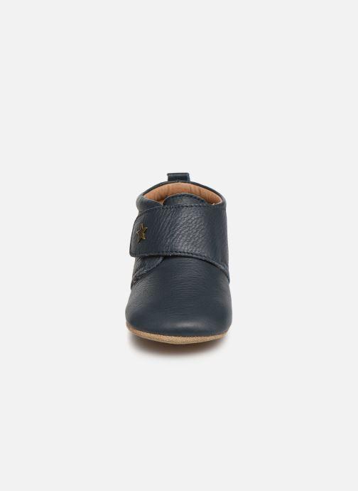 Chaussons Bisgaard Lone Bleu vue portées chaussures