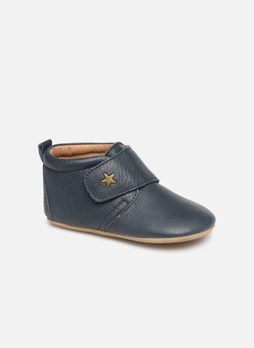 Hjemmesko Bisgaard Lone Blå detaljeret billede af skoene