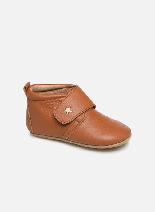 Hjemmesko Bisgaard Lone Brun detaljeret billede af skoene