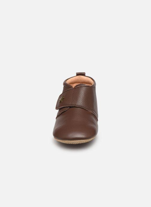 Pantofole Bisgaard Lone Marrone modello indossato