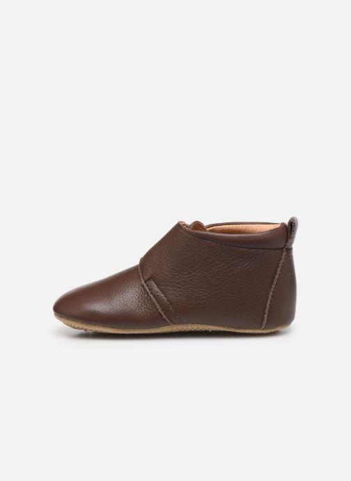 Pantofole Bisgaard Lone Marrone immagine frontale