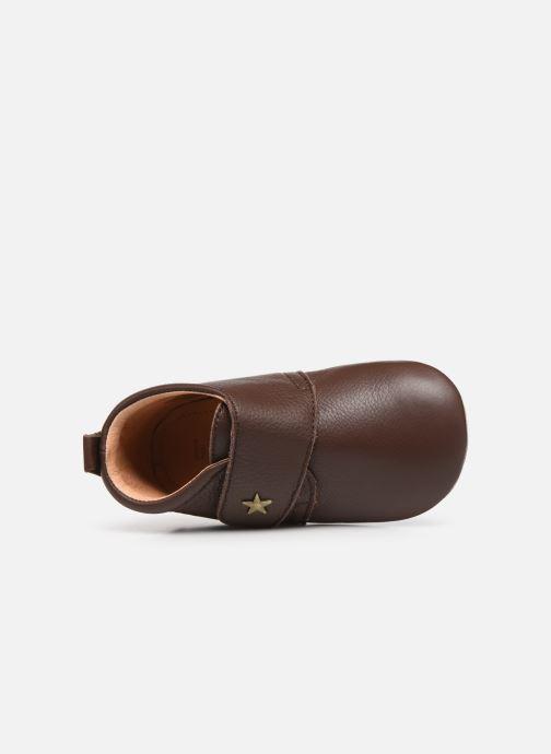 Pantofole Bisgaard Lone Marrone immagine sinistra