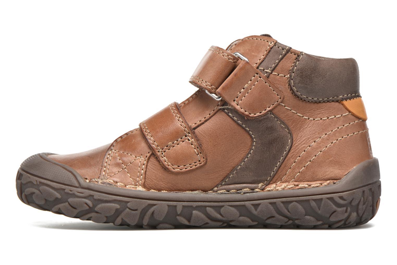 Chaussures à scratch Noël Nino2 Marron vue face