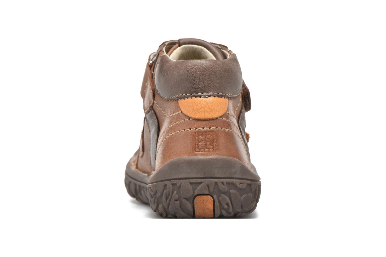 Chaussures à scratch Noël Nino2 Marron vue droite