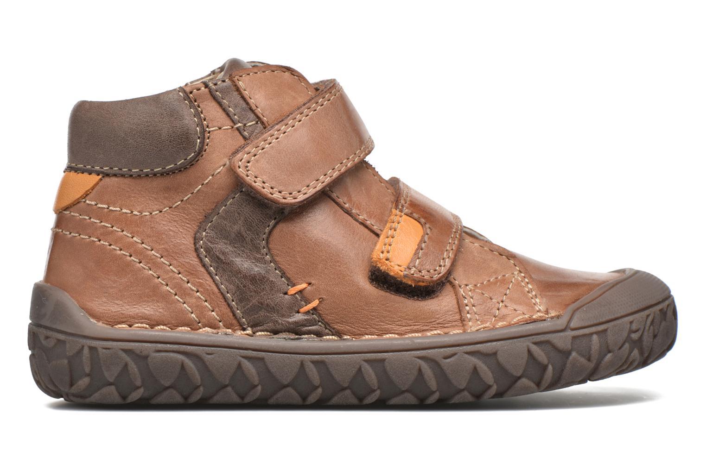 Chaussures à scratch Noël Nino2 Marron vue derrière
