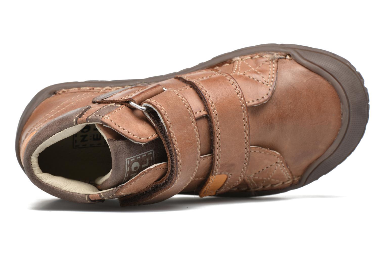 Chaussures à scratch Noël Nino2 Marron vue gauche