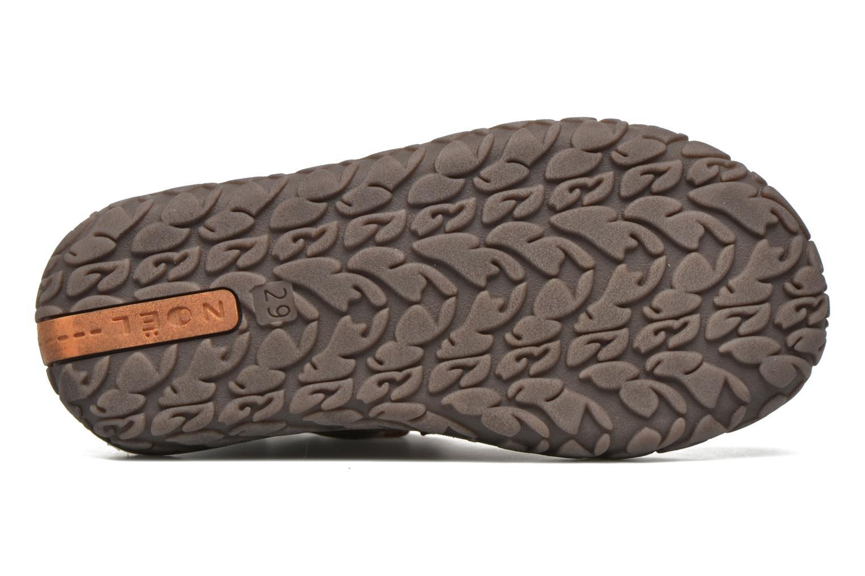 Chaussures à scratch Noël Nino2 Marron vue haut