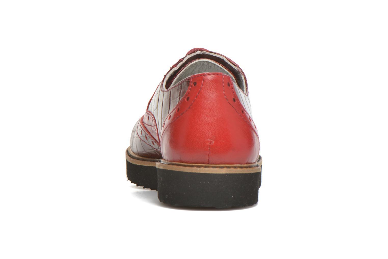 Chaussures à lacets Ippon Vintage Andy croco Rouge vue droite