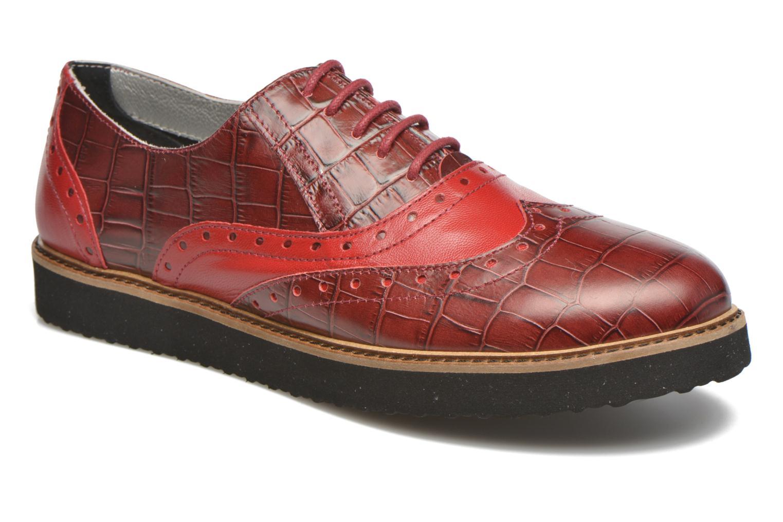 Chaussures à lacets Ippon Vintage Andy croco Rouge vue détail/paire