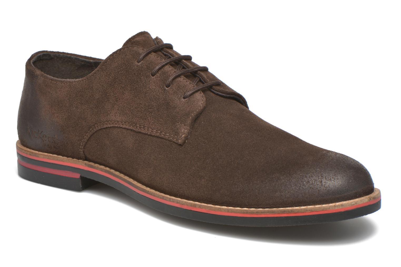 Chaussures à lacets Kickers Eldan Marron vue détail/paire