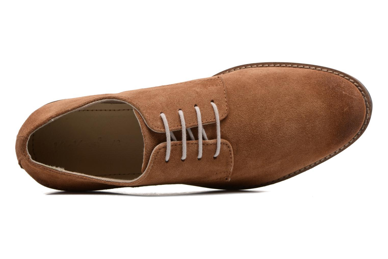 Chaussures à lacets Kickers Eldan Marron vue gauche