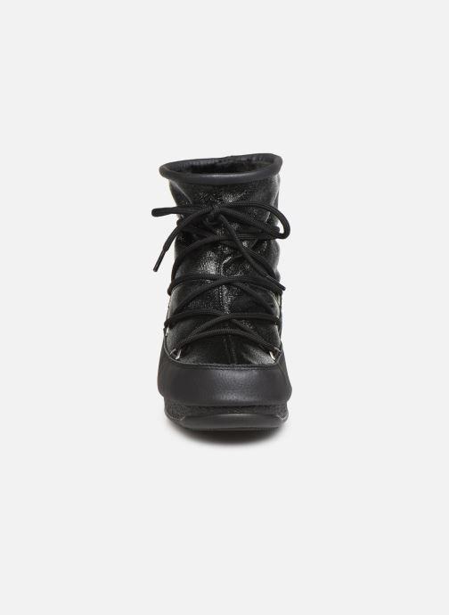 Chaussures de sport Moon Boot Low Glitter Noir vue portées chaussures