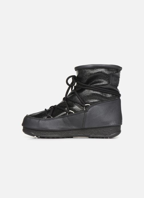 Sport shoes Moon Boot Low Glitter Black front view
