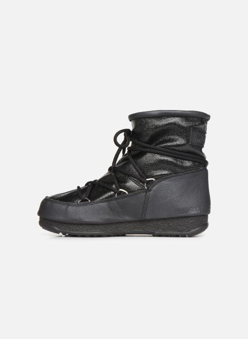 Sportschuhe Moon Boot Low Glitter schwarz ansicht von vorne