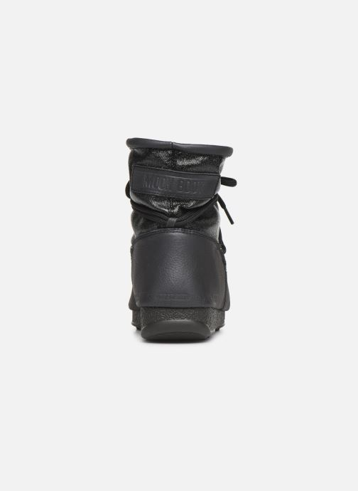 Sportschuhe Moon Boot Low Glitter schwarz ansicht von rechts