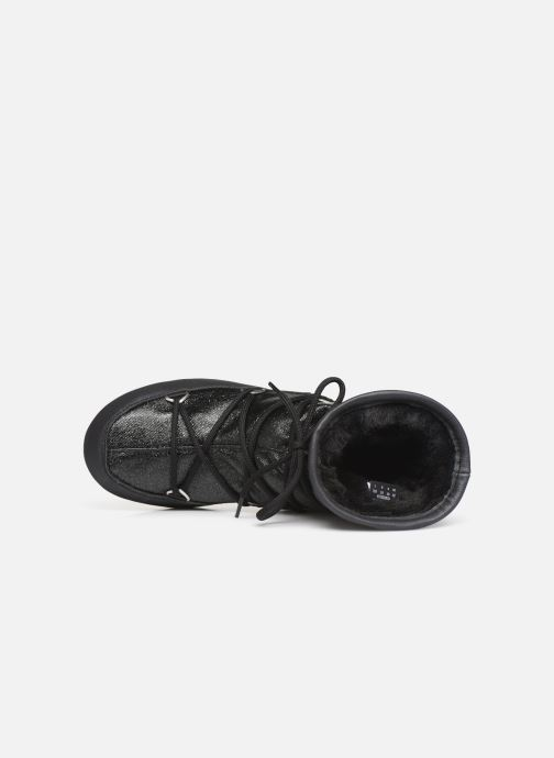 Sport shoes Moon Boot Low Glitter Black view from the left