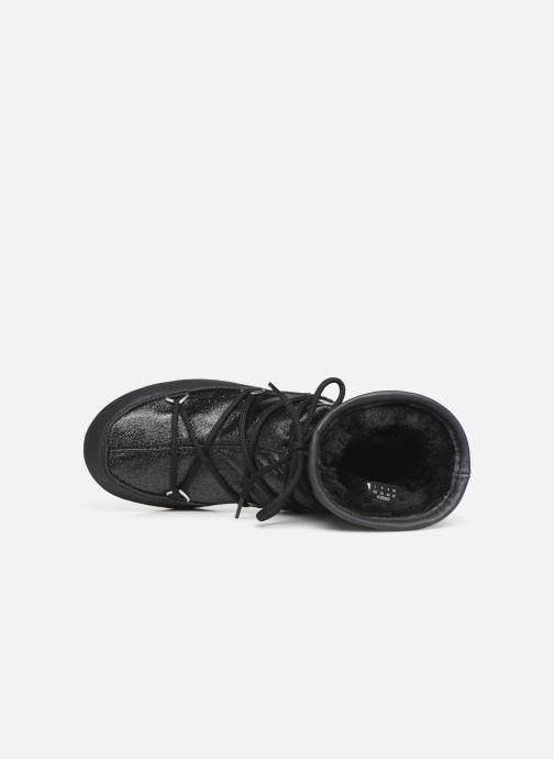 Sportschuhe Moon Boot Low Glitter schwarz ansicht von links