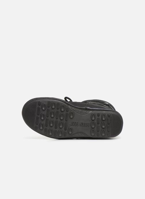 Zapatillas de deporte Moon Boot Low Glitter Negro vista de arriba