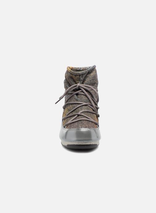 Sportschuhe Moon Boot Low Lurex grau schuhe getragen