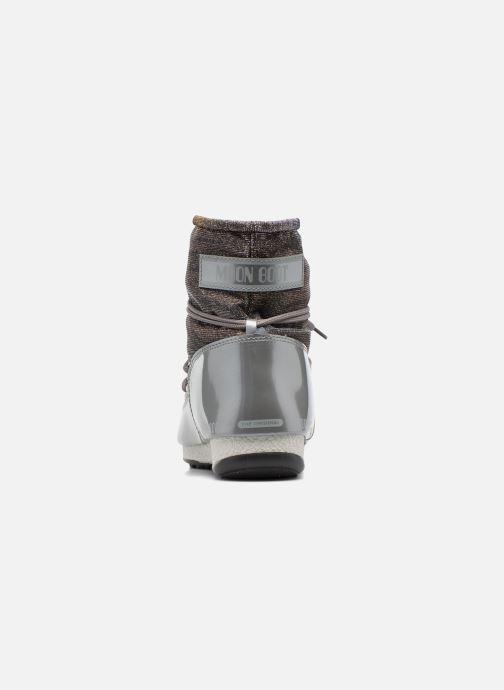 Chaussures de sport Moon Boot Low Lurex Gris vue droite