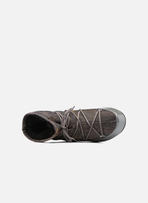 Sportschuhe Moon Boot Low Lurex grau ansicht von links