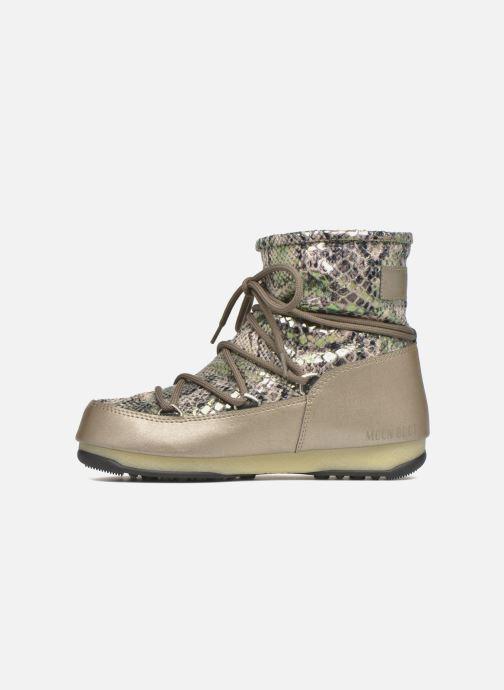 Zapatillas de deporte Moon Boot Low Snake Verde vista de frente