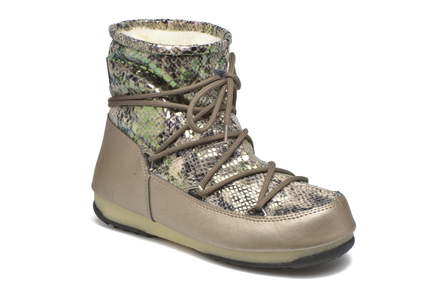 Moon Low cream Boot Snake Gold uF1lc3TJK