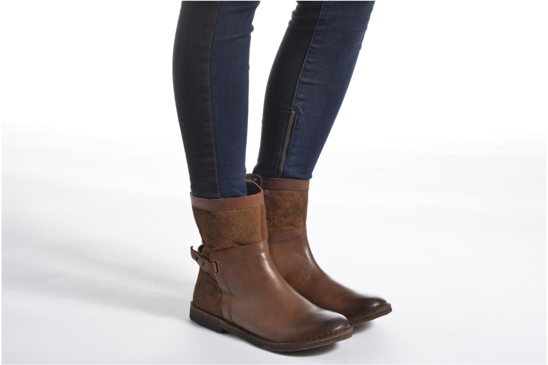 Bottines et boots Kickers Cricket Marron vue bas / vue portée sac