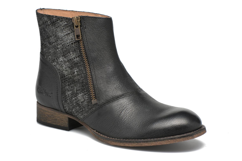 Bottines et boots Kickers Penny Noir vue détail/paire