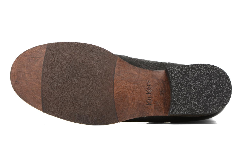 Bottines et boots Kickers Penny Noir vue haut