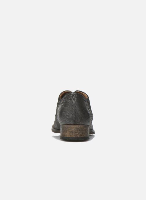 Zapatos con cordones Kickers Punkyplace Negro vista lateral derecha