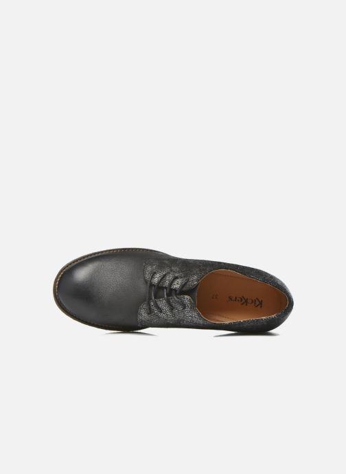 Zapatos con cordones Kickers Punkyplace Negro vista lateral izquierda
