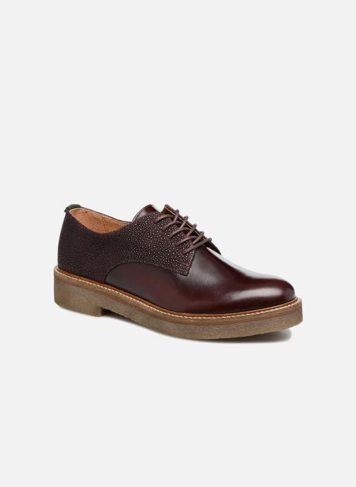 Chaussures à lacets Kickers Oxfork Bordeaux vue détail/paire