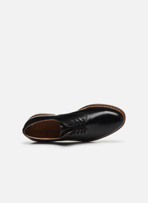 Zapatos con cordones Kickers Oxfork Negro vista lateral izquierda