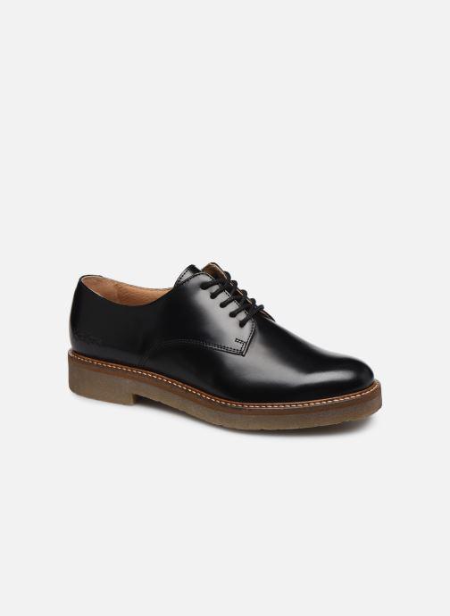 Zapatos con cordones Kickers Oxfork Negro vista de detalle / par