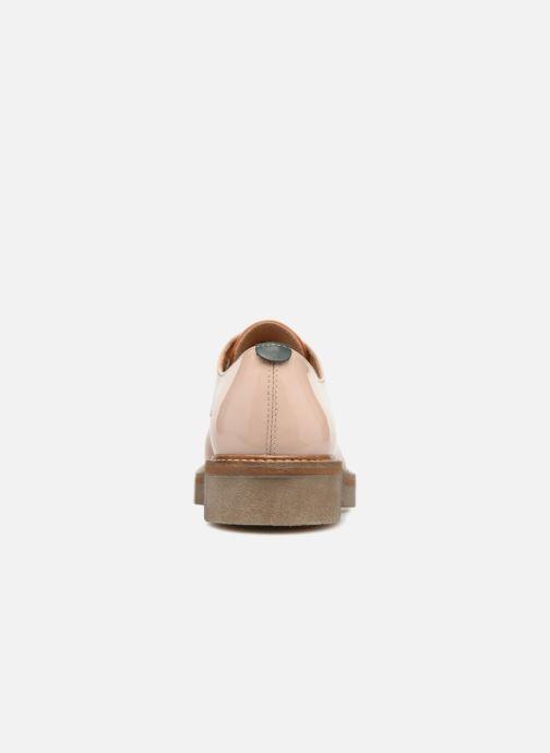 Chaussures à lacets Kickers Oxfork Orange vue droite
