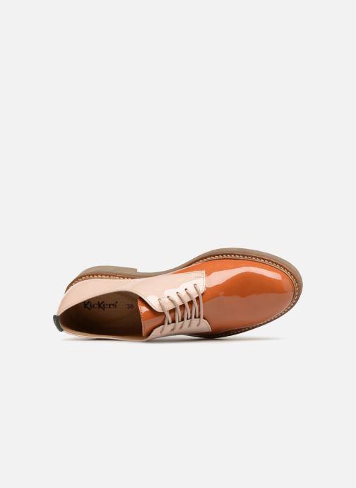 Chaussures à lacets Kickers Oxfork Orange vue gauche