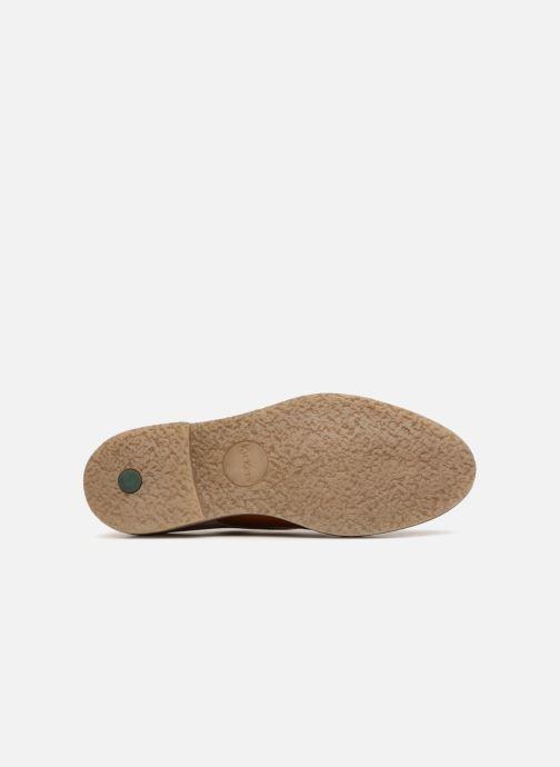 Chaussures à lacets Kickers Oxfork Orange vue haut