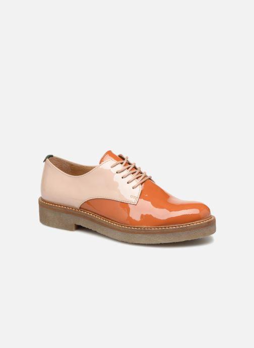 Chaussures à lacets Kickers Oxfork Orange vue détail/paire