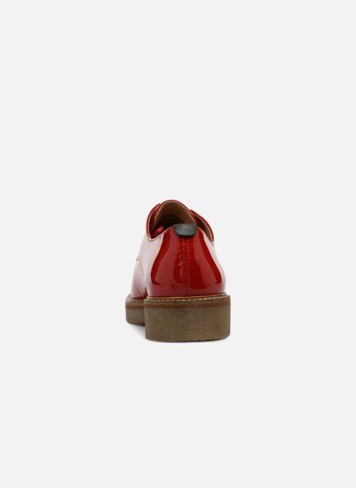 Chaussures à lacets Kickers Oxfork Rouge vue droite
