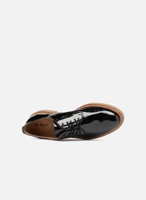 Scarpe con lacci Kickers Oxfork Nero immagine sinistra