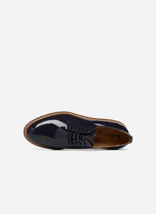 Scarpe con lacci Kickers Oxfork Azzurro immagine sinistra