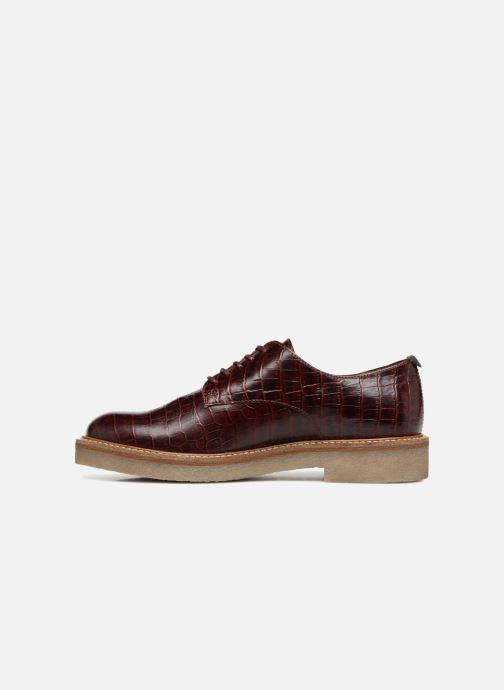 Chaussures à lacets Kickers Oxfork Bordeaux vue face