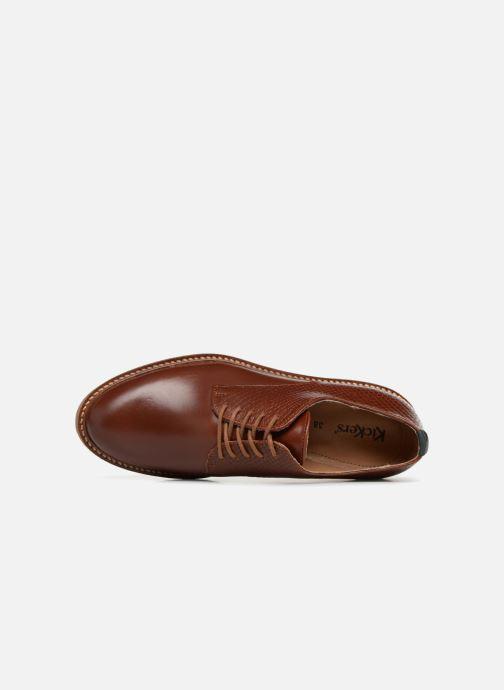 Chaussures à lacets Kickers Oxfork Marron vue gauche