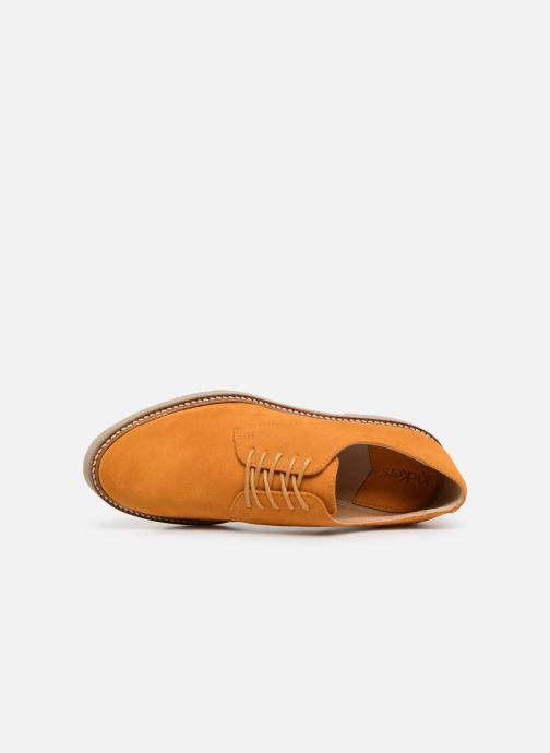 Chaussures à lacets Kickers Oxfork Jaune vue gauche
