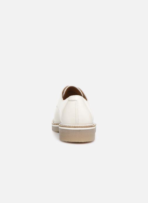 Zapatos con cordones Kickers Oxfork Blanco vista lateral derecha