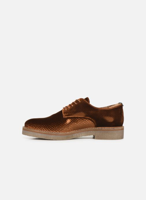 Chaussures à lacets Kickers Oxfork Or et bronze vue face
