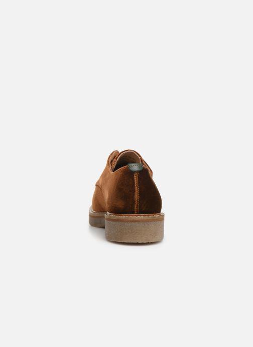 Chaussures à lacets Kickers Oxfork Or et bronze vue droite