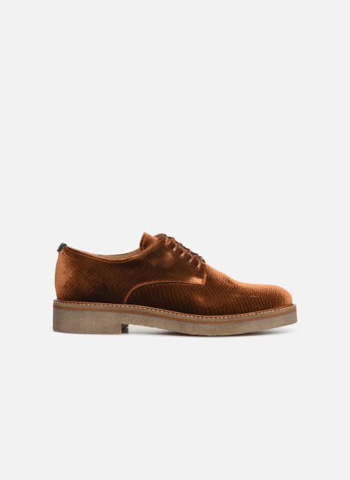 Chaussures à lacets Kickers Oxfork Or et bronze vue derrière